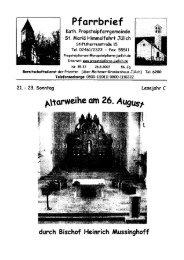 Pfarrbrief vom 26.08.2007 - Propsteipfarrgemeinde St. Mariä ...