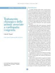 Trattamento chirurgico delle aritmie associate a cardiopatia congenita