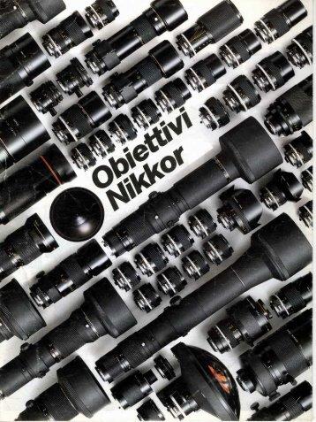 Nikon Nikkor AiS brochure 12/1987 Italiano (PDF ... - Marco Cavina