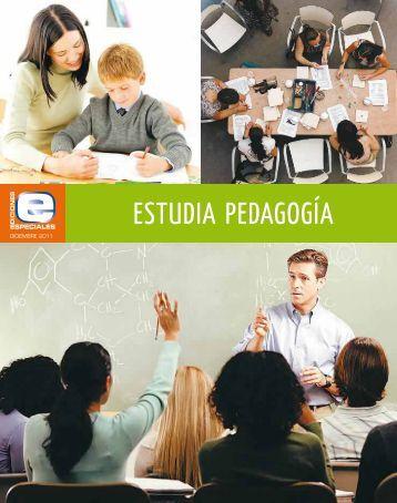 Estudia Pedagogía