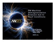 PM Machine Demagnetization Analysis due to Fault ... - Ansys