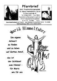 Pfarrbrief vom 13.08.2006 - Propsteipfarrgemeinde St. Mariä ...