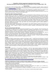 Informativa - Golf Club La Pinetina