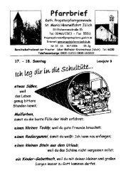 Pfarrbrief vom 30.07.2006 - Propsteipfarrgemeinde St. Mariä ...