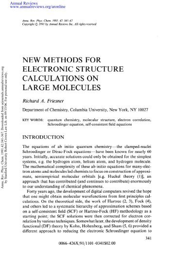New Methods For Electronic Structure Calculations on ... - Hod4.net