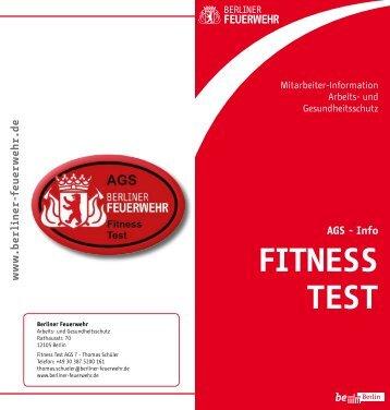 FITNESS TEST - Berliner Feuerwehr