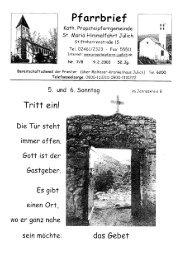Pfarrbrief vom 09.02.2003 - Propsteipfarrgemeinde St. Mariä ...