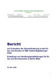 Abschlussbericht der Sprachförderuntersuchung in den Kitas und ...