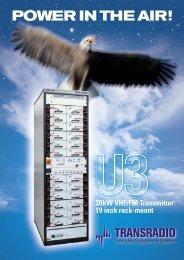 U3-X VHF/FM Transmitter Brochure - TRANSRADIO