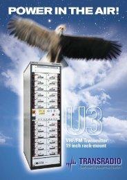 VHF/FM U3-X Transmitter Brochure - TRANSRADIO