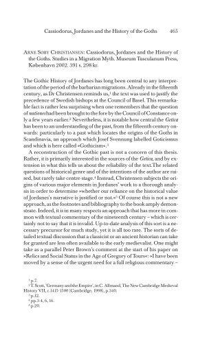 Cassiodorus, Jordanes and the History of the ... - Historisk Tidsskrift