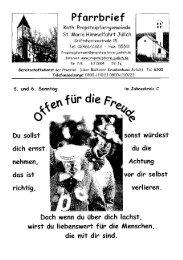 Pfarrbrief vom 08.02.2004 - Propsteipfarrgemeinde St. Mariä ...