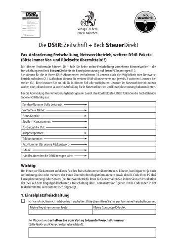 Die Dstr: Zeitschrift + Beck Steuerdirekt
