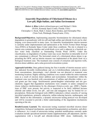 Anaerobic Degradation of Chlorinated Ethenes in a Low-pH, High ...