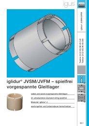 iglidur® JVSM/JVFM – spielfrei vorgespannte Gleitlager - Igus