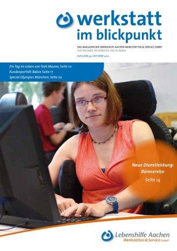 Neue Dienstleistung: Büroservice Seite 14  - Gossen Kommunikation