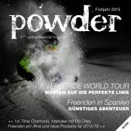 FREERIDE WORLD TOUR Freeriden in Spanien