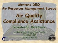 Air Quality Compliance Assistance - Montana Petroleum Association