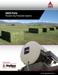 AGCO Parts Precision Hay Production Systems