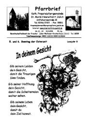 Pfarrbrief vom 14.05.2006 - Propsteipfarrgemeinde St. Mariä ...