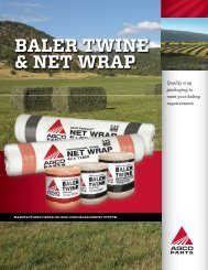 BALER TWINE & NET WRAP - AGCO Parts