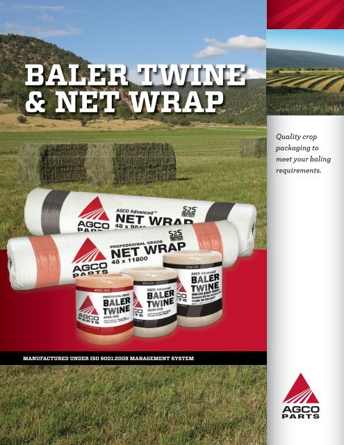 BALER TWINE & NET WRAP - AGCO Parts