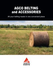 AGCO BELTING and ACCESSORIES - AGCO Parts