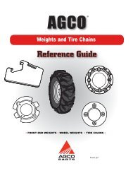 Weights and Tire Chains - AGCO Parts