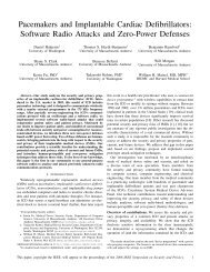 Pacemakers and Implantable Cardiac Defibrillators: Software Radio ...