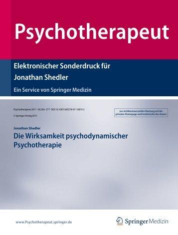 ShedlerPsychotherapeut