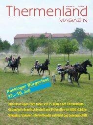 Thermenland Magazin Juli 2015