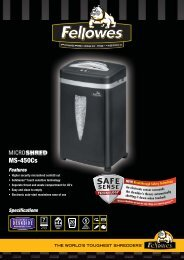 Fellowes ms-450cs Brochure - Trade Shredders