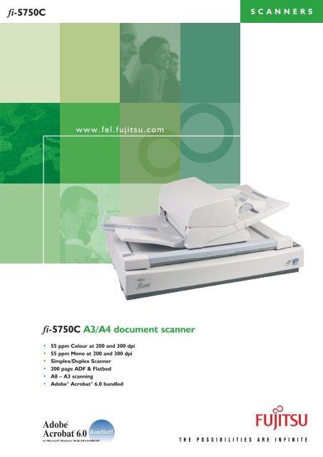 Download Fujitsu fi-5750c Scanner Specfications - Pearl Scan