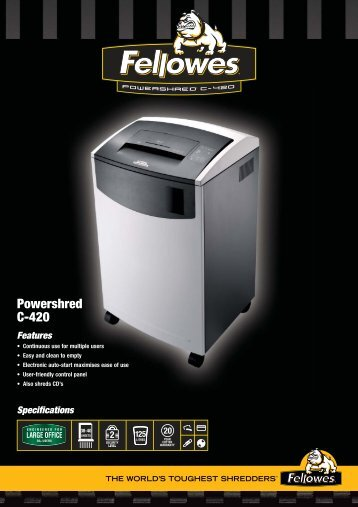 Fellowes C-420CX Brochure.pdf - Tradescanners