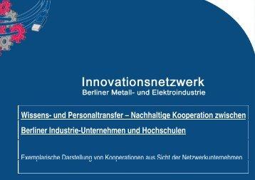 Exemplarische Darstellung von Kooperationen aus Sicht der ...