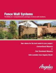 Angelus Fence Wall Systems (PDF) - Angelus Block Co. Inc.