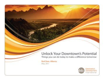 Unlock Your Downtown's Potential - Experience Downtown Red Deer