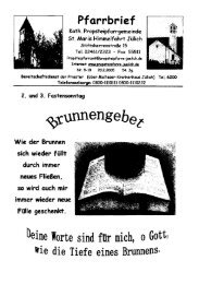 Pfarrbrief vom 20.02.2005 - Propsteipfarrgemeinde St. Mariä ...