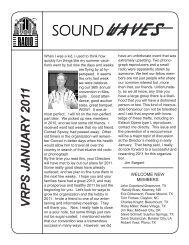 Soundwaves January 2011 - Vintage Radio and Phonograph Society