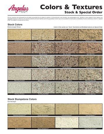 CMU Colors & Textures - Angelus Block Co. Inc.