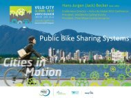 Public Bike Sharing Systems - Third Wave Cycling Group