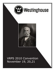 Convention Details - Vintage Radio and Phonograph Society