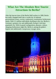 What Are The Absolute Best Tourist Attractions In Berlin?