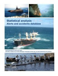 Statistical analysis Alerts and accidents database - rempec