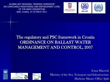 A National Example: The regulatory and PSC framework in ... - rempec