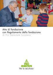 Atto di fondazione con Regolamento della fondazione di Pro ...