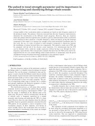 The pulsed to tonal strength parameter and its importance in ...