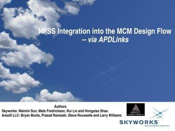 RF Module Design Automation: Ansoft Links
