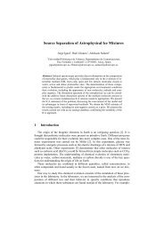 Source Separation of Astrophysical Ice Mixtures - (GTS) iTEAM-UPV