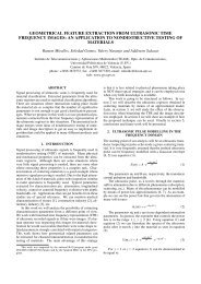 geometrical feature extraction from ultrasonic time frequency images